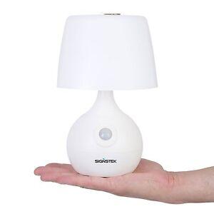 weiss Dual Color batteriebetriebene mit Bewegungsmelder 12 LED Tischlampe