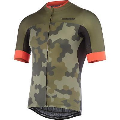- RoadRace Apex men's short sleeve jersey, dark olive / chilli red hex camo X-larg
