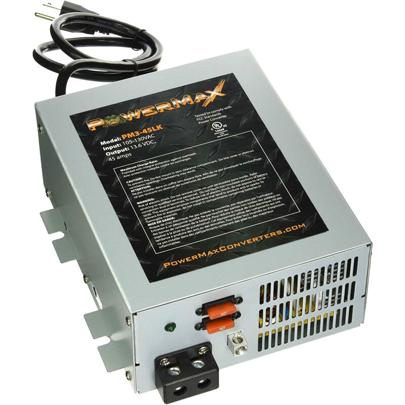Powermax PM3-45 110-120V to 12V DC 45 Amp Power Supply Converter