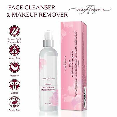 Olive Oil Face Cleanser & Makeup Remover with Argan, Safflower, and Essential Oi Essential Oils Makeup Remover