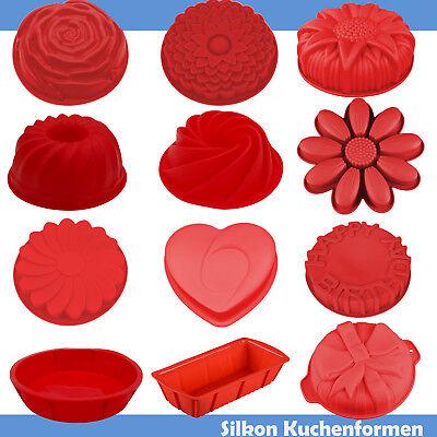 Backformen Silikon Kuchenform Kastenform Blume Backen Herz Backform Design rund