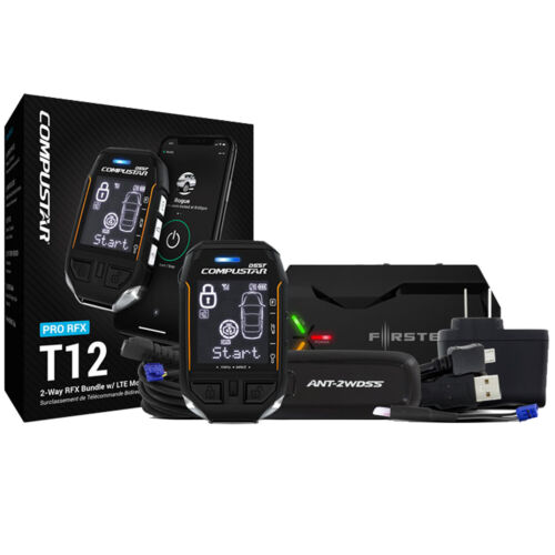 Compustar Pro RFX-P2WT12-SS 3-Mile 2-Way LCD RF Remote + DR-X1 LTE Drone Mobile