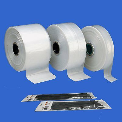 Polyethylene Poly Bag Poly Tubing 1.5 Mil Thickness 3 4 6 12 W X 100