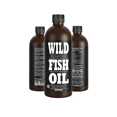 Wild Fish Oil  Delicious Lemon Omega 3 Dpa Epa Dha Oil   16 Oz   Friends Of The