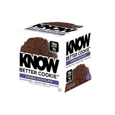 Know Foods Gluten Free Low Carb Protein Cookies Double Chocolate Chip 4G Net