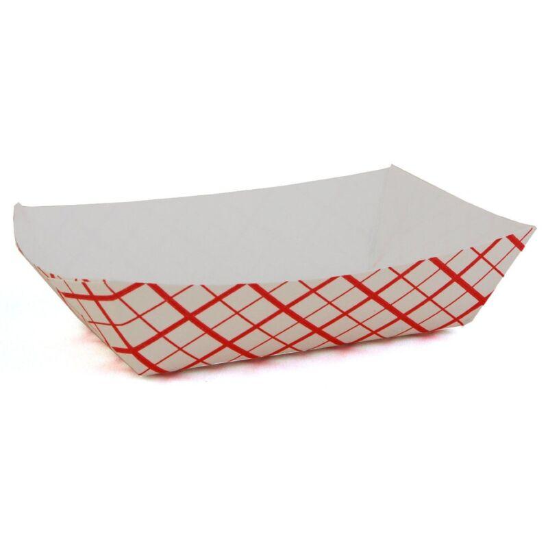 50 Cardboard Paper Food Tray Fries Nachos Concessions Baskets 1 lb. Heavy Duty