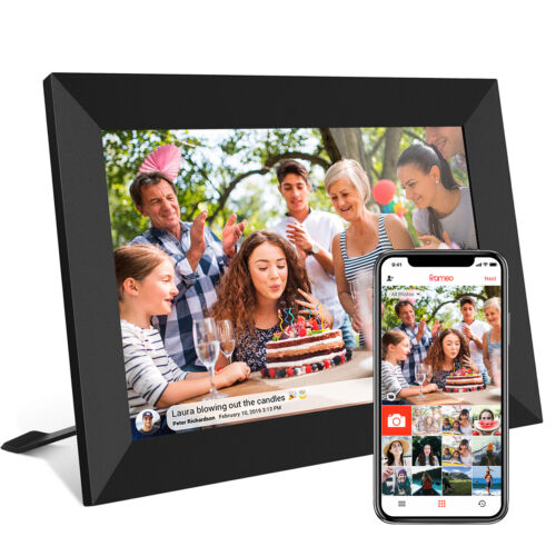 """10.1"""" WiFi Digital Photo Frame Share Picture Video Instantly Frameo APP 16GB"""