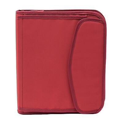 New Members Mark 3 Ring 1.5 Binder With Zipper Red Fast Free Shipping
