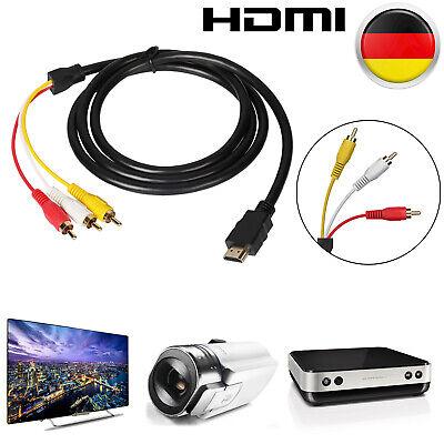 AV Kabel Adapter HDMI Auf/zu 3-RCA AV Cinchstecker HDTV 1080P Scartstecker 1.5M Av-kabel