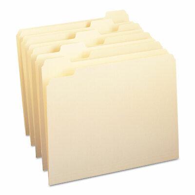 Smead File Folders 15 Cut One-ply Top Tab Letter Manila 100box 10350