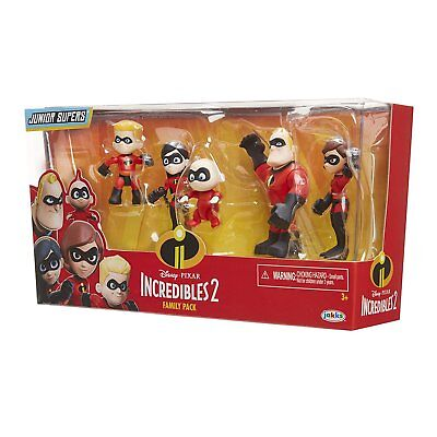 The Incredibles 2 Set of 5 Figures Parr Family Dash Jack Elasticgirl Violet - The Incredibles Violet