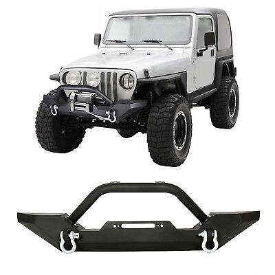 Bumper Winch Plate (Front Bumper Winch Plate D-Ring Rock Crawler For 1986-2006 Jeep Wrangler TJ YJ)