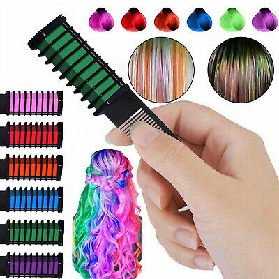 Pro 6 Colors Mini Disposable Temporary Hair Dye Comb Home Salon Hair Dyeing Tool Hair Care & Styling