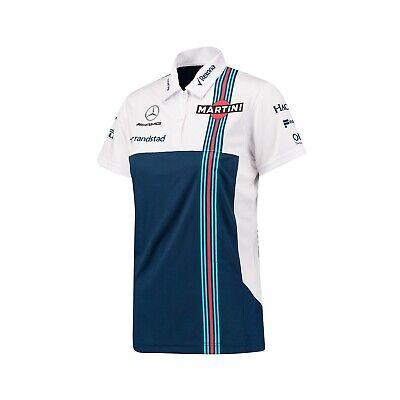POLO ladies Williams Martini F1 Formula One 1 NEW! Mercedes Poloshirt Navy White