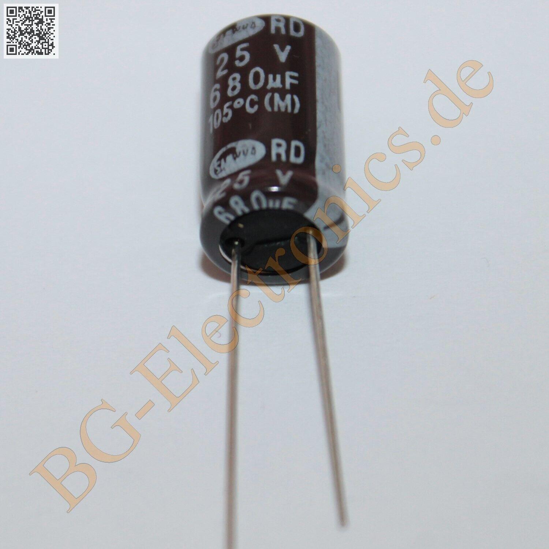 25 x 10µF 10uF 100V 105° RM2 Elko Kondensator Capacitor Ra Samwha E-Cap 25pcs