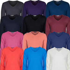 Marks-Spencer-Mens-V-Neck-Cashmilon-Soft-Knit-New-M-S-Jumper-Sweater-Pullover