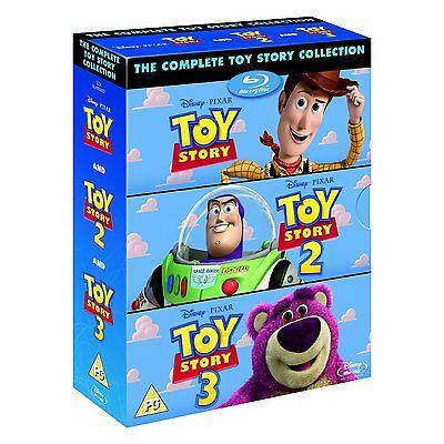 Toy Story Trilogy 1 2 3 Blu-Ray Box Set Disney Pixar BRAND NEW Free Shipping