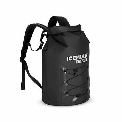 IceMule Pro Large 23L Insulated Waterproof Backpack Cooler Bag - Matte Black