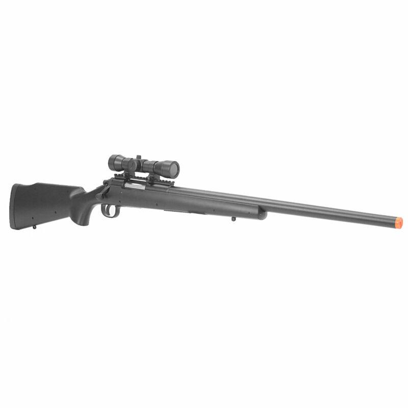 BBTac Airsoft Sniper Rifle BT-M61 Spring Bolt Action Gun Tactical Scope Black