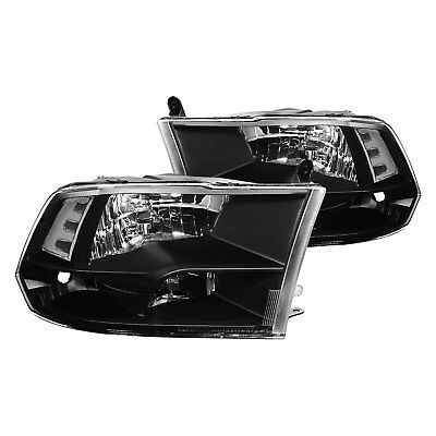 For Ram 1500 2011-2016 Lumen 87-1001608 Black Euro Headlights