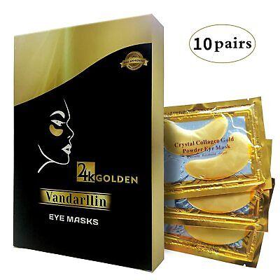 Mascarilla para ojos 24K Golden en forma de parche, gel de colágeno, anti edad.