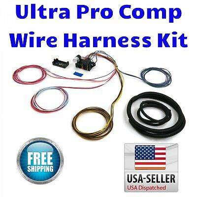 Chevy 2 Door Wire Harness Fuse Block Upgrade Kit hot rod street rod rat rod