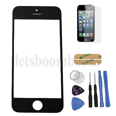 New Black Front Outer Screen Glass Lens Replacement For iPhone 5 5S 5C + Tools