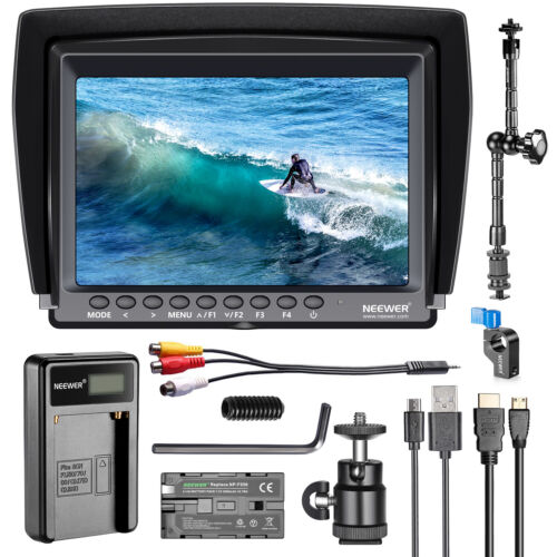 F100 7-inch 1280x800 IPS Screen Camera Field Monitor Kit with Battery&Charger