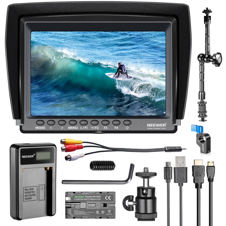 F100 7-inch 1280x800 IPS Screen Camera Field Monitor Kit wit