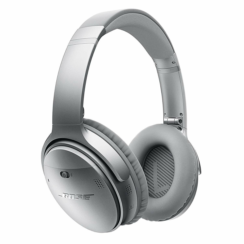 Bose QuietComfort 35 Series I Wireless Headphones, Factory Renewed Silver