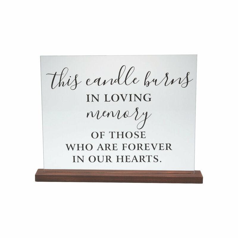 Memorial Candle Acrylic Sign - Wedding Supplies - Home Decor - 1 Piece