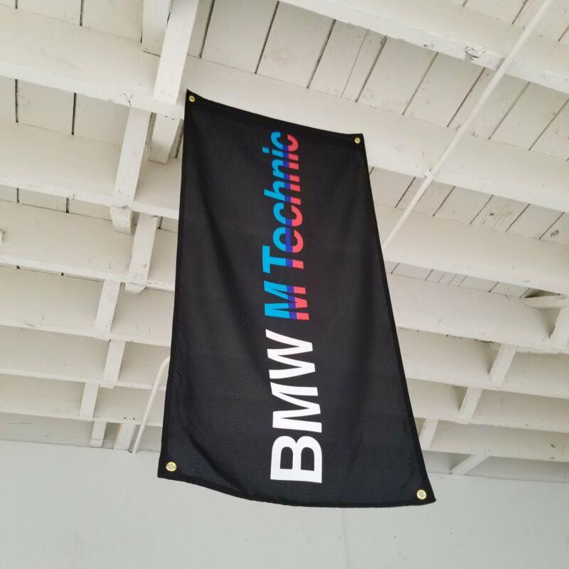 BMW M Technic Flag Banner m3 m5 alpina hartge e30 e36 dinan m535 e46 e21 DTM