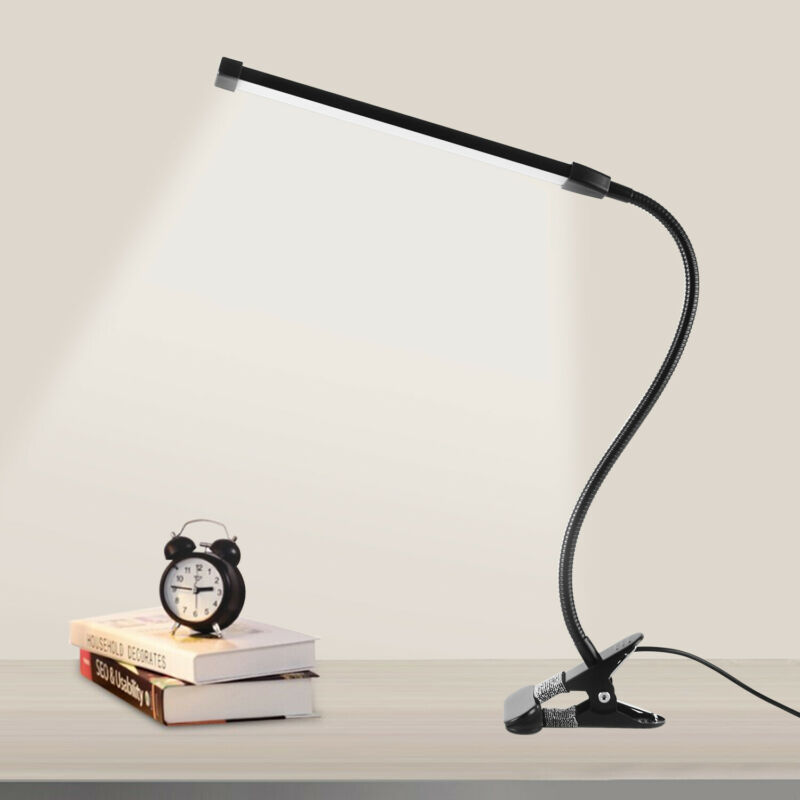 LED Klemmleuchte dimmbar Schreibtischlampe Leselampe flexibel USB Tisch-Lampe 8W