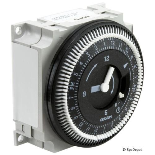 Grasslin Time Clock for Hot Tub & Spa - 24 Hour 120V SPDT/SPST 34-0033