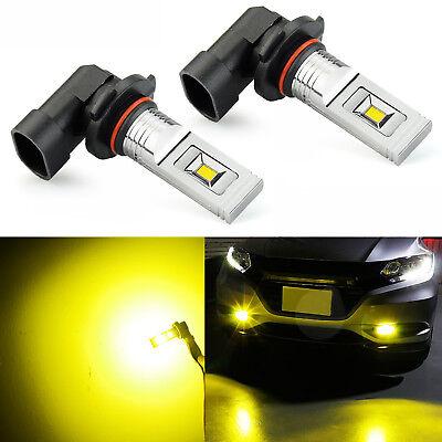 JDM ASTAR 2x Golden Yellow 1200Lm H10/9145 CSP LED Fog Running Light Bulbs Lamps