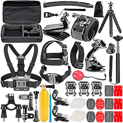 Neewer 50-in-1 Outdoor Sport Camera Accessory Kit for GoPro Hero 3+ 4