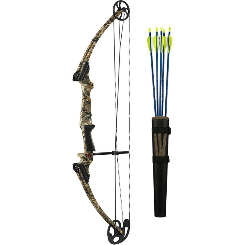 Genesis Archery 12241 Camo Original Compound Target Practice Bow Kit, Left Hand
