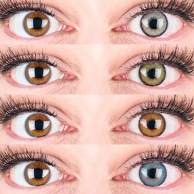 aktlinsen Mit und Ohne Stärke weich Mirel natürlich deckend (Farbige Kontaktlinsen)