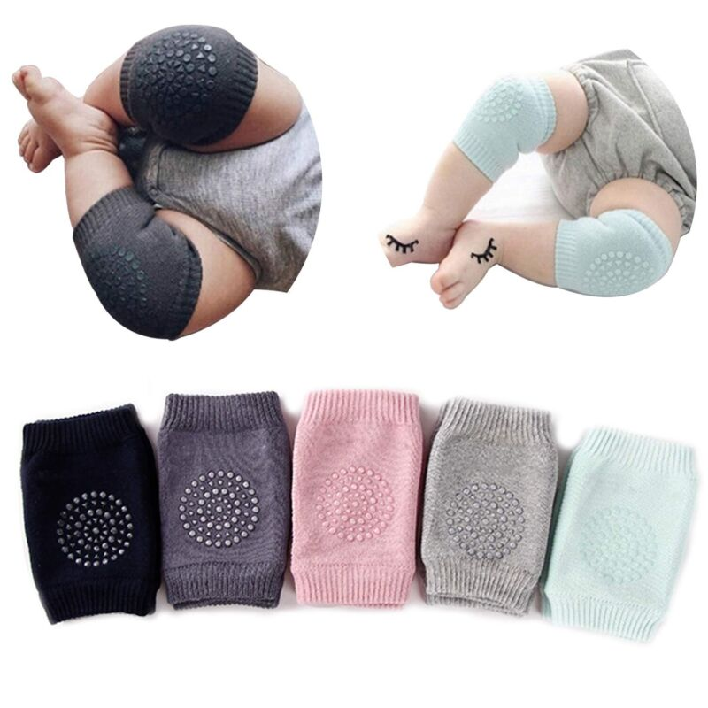 Baby And Kids Infant Knee Protector Knee Pads 6 Color Combo Set