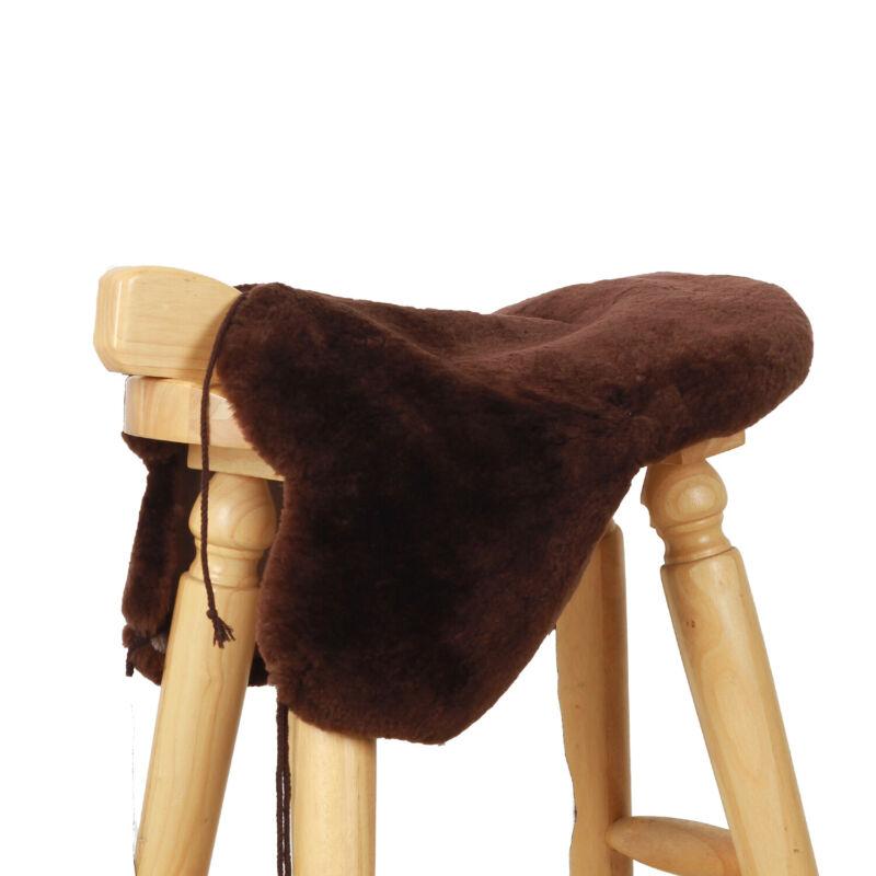 Premium Sheepskin Western Saddle Seat Saver Cover Australian Merino Fleece Pad