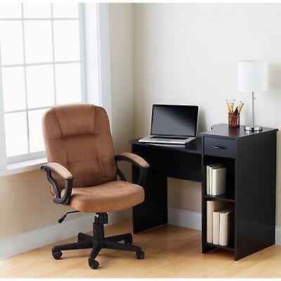 Student Desk Mainstays Black Home Office Furniture Dorm Bedroom Adjustable Shelf