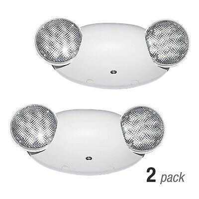 2 Pack Led Exit Light Emergency Light Dual Lamp Ul 924 Listed Battery Backup