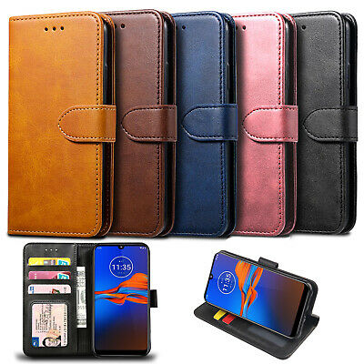 For Motorola Moto E6 Plus G7 Power G8 Plus Case Luxury Leather Wallet Cover Flip