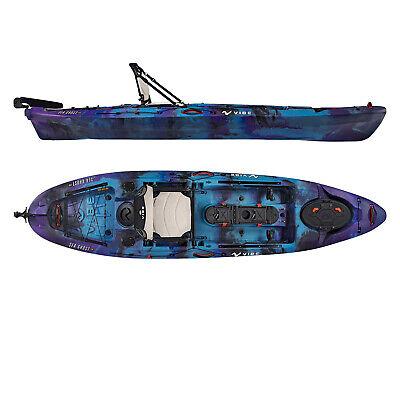 Vibe Sea Ghost 110 11' Pro Fishing Kayak | Rudder + Storage + Premium Seat