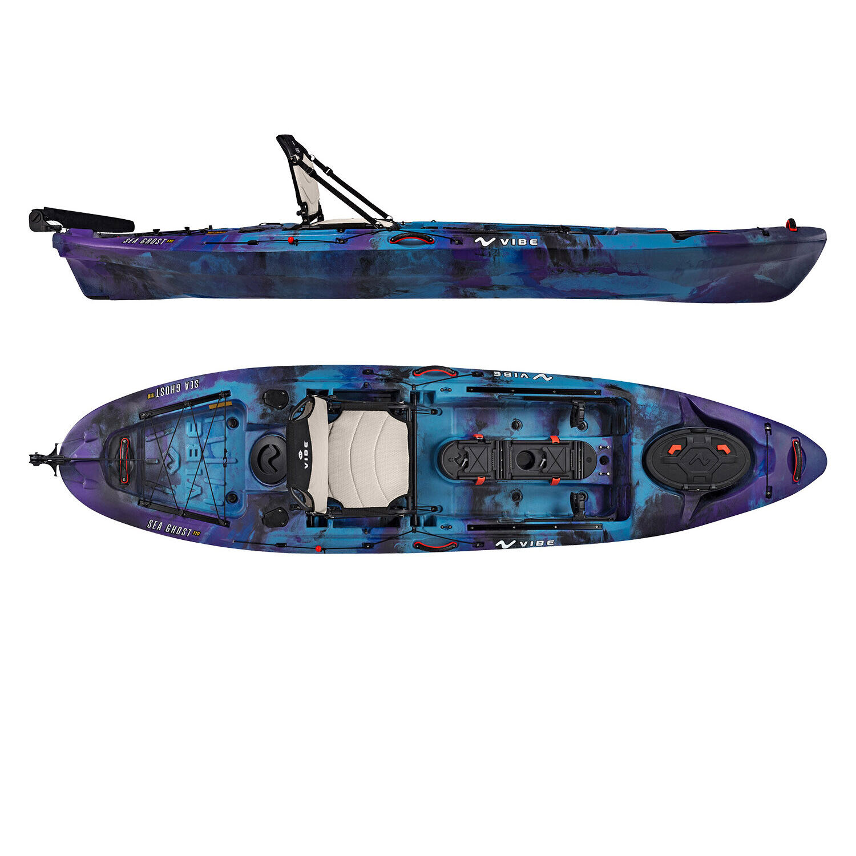 Vibe Sea Ghost 110 11' Pro Fishing Kayak | Rudder + Storage