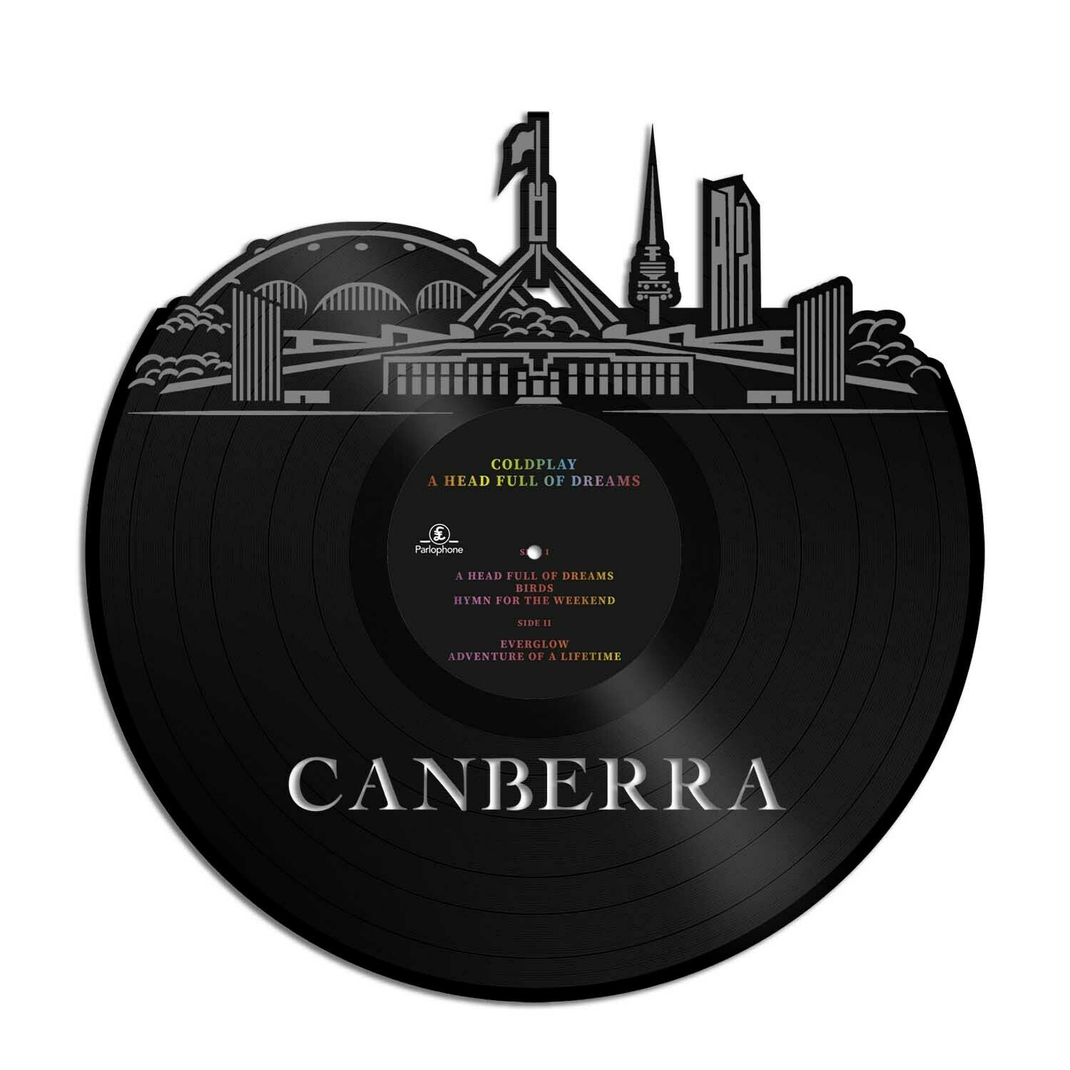 Details about canberra vinyl wall art cityscape souvenir anniversary office home room decor