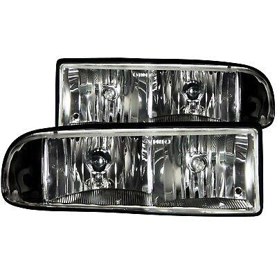 Anzo USA 111156 Crystal Headlight Set Fits 98-04 S10 Blazer S10 Pickup