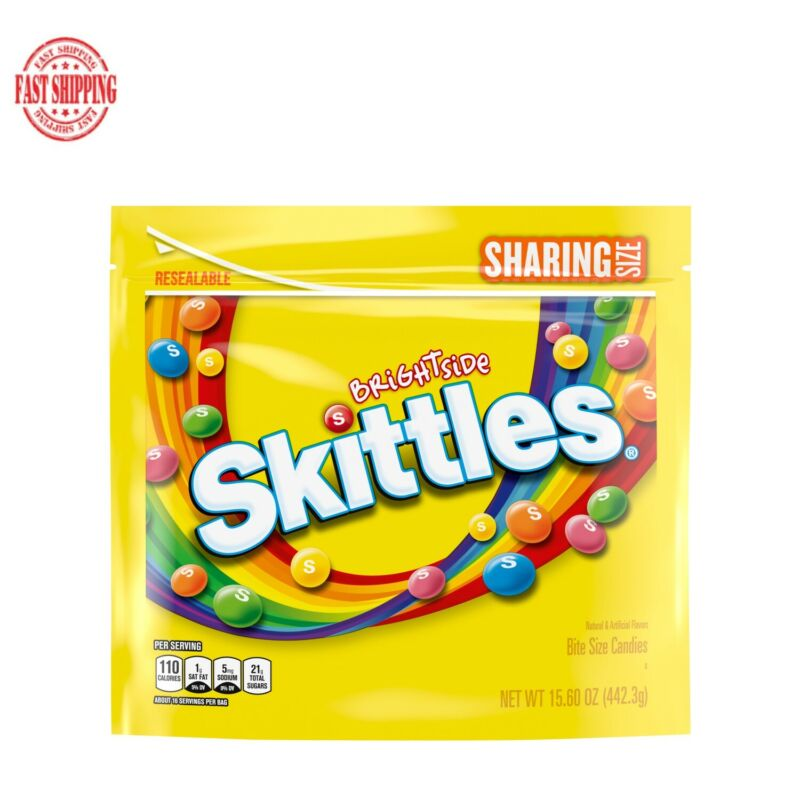 SKITTLES Brightside Chewy Candy Sharing Size Bag 15.6 oz