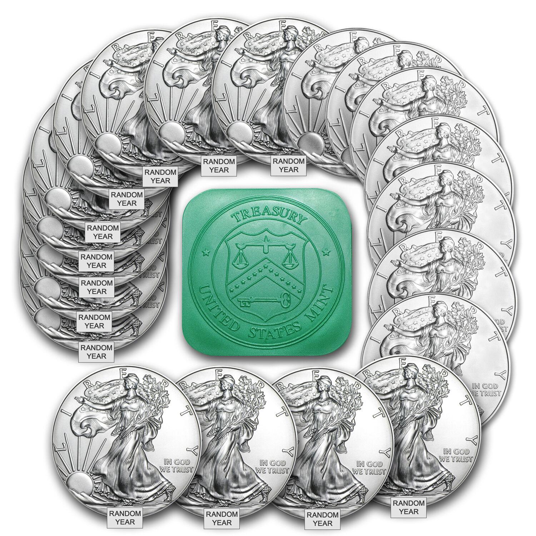 1 oz Silver American Eagle BU (Random Year) Lot of 20 - SKU #101889