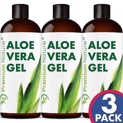 Pure Aloe Vera Gel For Face & Body Care Lotion Moisturizer Skincare 3 Pack 100% Face Moisturizing Gel
